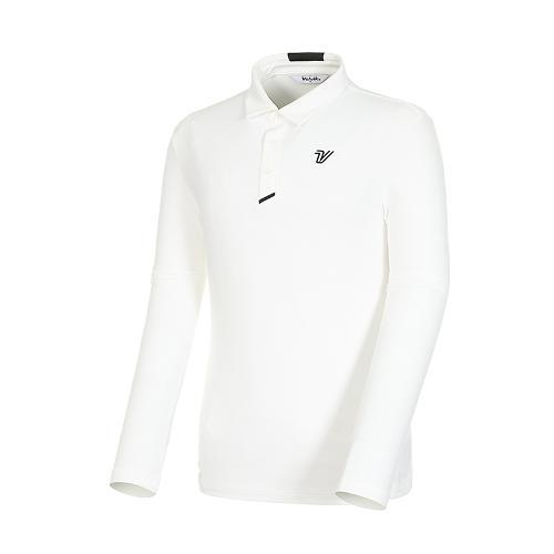 남성 골프 스트레치 카라 긴팔 티셔츠 VMTSK992_OW