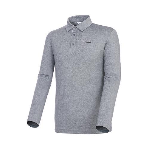 [볼빅골프웨어] 남성 골프 솔리드 카라 긴팔 티셔츠 VMTSKD81_MG