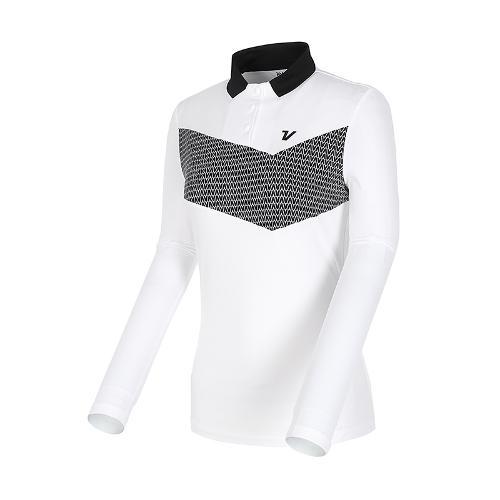 [볼빅골프웨어] 여성 골프 쿨스윙 냉감 소매 카라 티셔츠 VLTSL306_OW