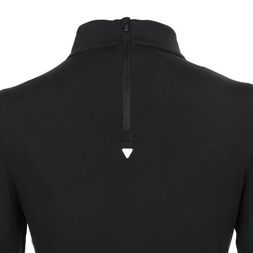 [볼빅골프웨어] 여성 골프 비비드 반폴라 긴팔 티셔츠 VLTSK910_BK