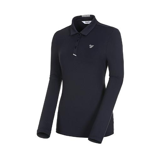 [볼빅골프웨어] 여성 골프 스트레치 카라 긴팔 티셔츠 VLTSK992_NA