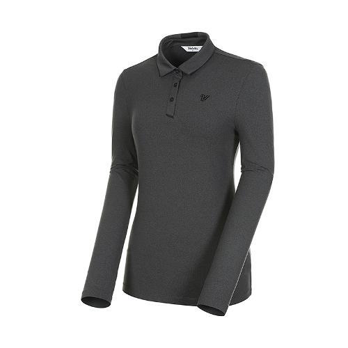 [볼빅골프웨어] 여성 골프 스트레치 솔리드 카라 반팔 티셔츠 VLTSK992_MG