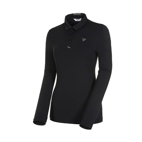 [볼빅골프웨어] 여성 골프 스트레치 카라 긴팔 티셔츠 VLTSK992_BK