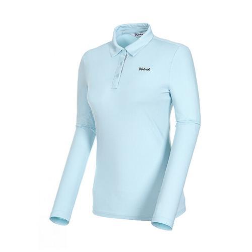 [볼빅골프웨어] 여성 골프 로고 제에리 카라 긴팔 티셔츠 VLTSKD81_LL