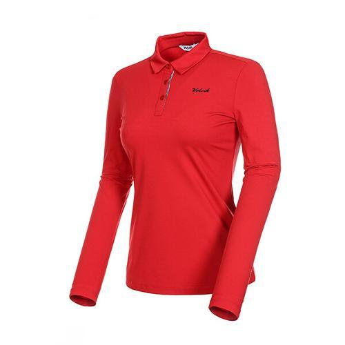 [볼빅골프웨어] 여성 골프 로고 제에리 카라 긴팔 티셔츠 VLTSKD81_RE