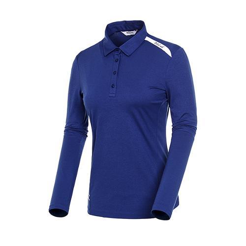 [볼빅골프웨어] 여성 골프 배색 카라 긴팔 티셔츠 VLTSJD91_NA