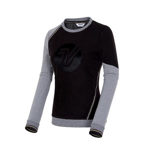 [볼빅골프웨어] 여성 골프 컬러 블록 라운드넥 티셔츠 VLTSIA04_BK