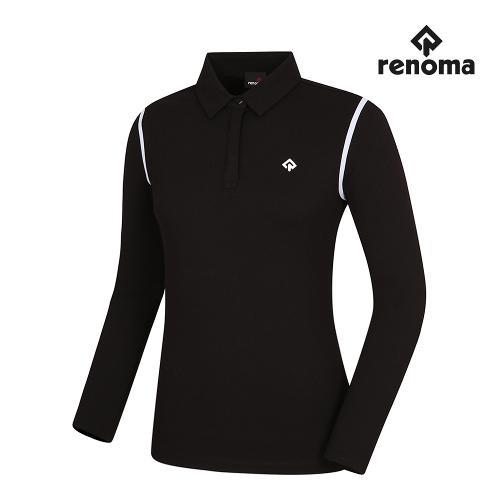 [레노마골프]여성 어깨 배색 카라 티셔츠 RWTYI7124-199_G