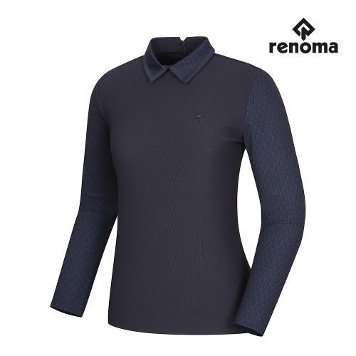 [레노마골프]여성 패턴 배색 카라 티셔츠 RWTYI7109-925_G
