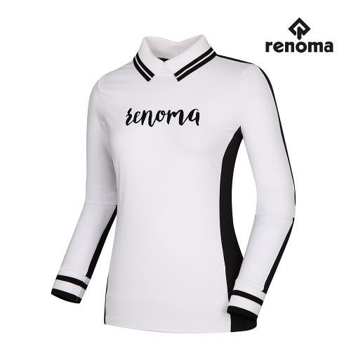 [레노마골프]여성 배색 로고 카라 티셔츠 RWTPI7111-101_G