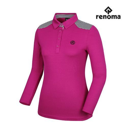 [레노마골프]여성 어깨 배색 카라 긴팔 티셔츠 RWTYG7118-604_G