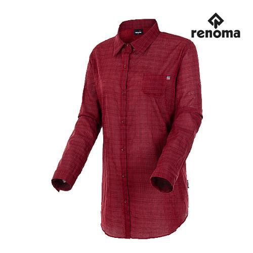 [레노마골프]여성 체크 다운 롱 코튼 셔츠 RWBSH7606-500_G