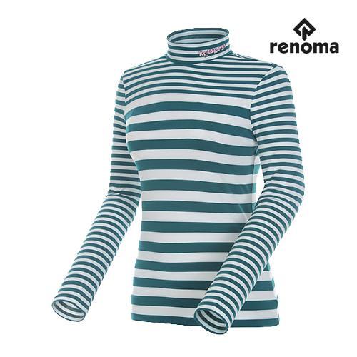 [레노마골프]여성 스트라이프 하이넥 티셔츠 RWTHG7103-904_G
