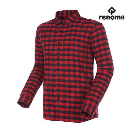 [레노마골프]남성 깅엄 체크 버튼다운 코튼 셔츠 RMBSG3603-500_G