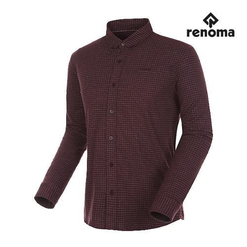 [레노마골프]남성 윈도우페인 체크 버튼다운 셔츠 RMBSG3602-415_G