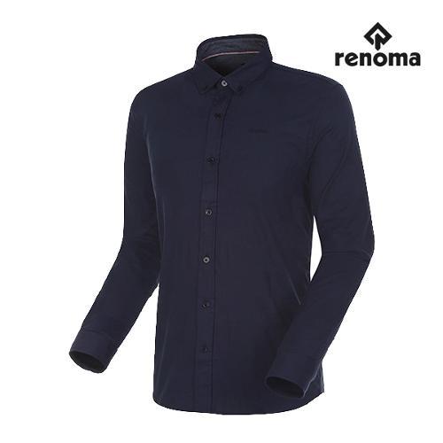 [레노마골프]남성 쉐도우 블록 패턴 버튼다운 셔츠 RMBSG3605-915_G