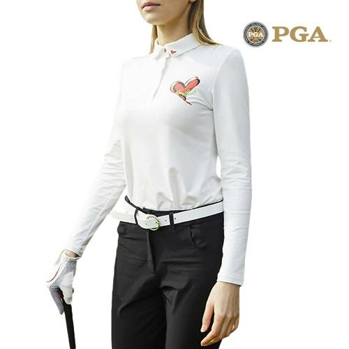 PGA 여성 클래식 라운딩 긴팔 카라티셔츠 PM9S01TS201