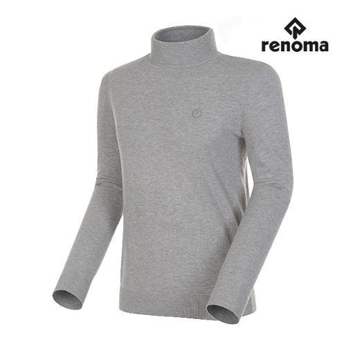 [레노마골프]남성 로고패치 베이직 폴라 스웨터 RMSPG3202-190_G