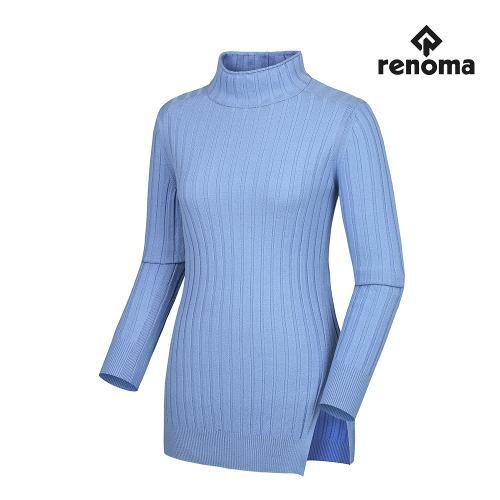[레노마골프]여성 심플 골지 트임 하이넥 긴팔 스웨터 RWSHG7205-920_G