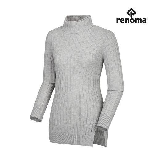 [레노마골프]여성 심플 골지 트임 하이넥 긴팔 스웨터 RWSHG7205-193_G