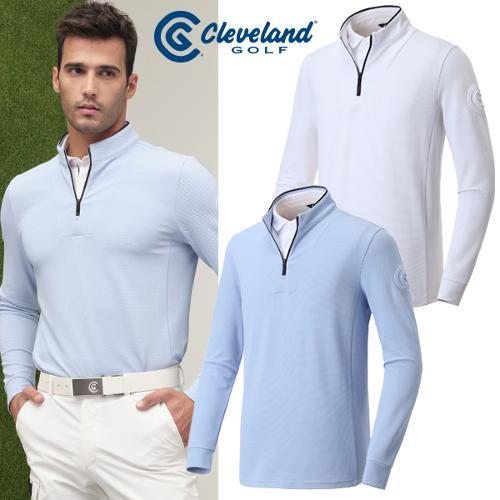 [클리브랜드골프] 2in1 셔츠 레이어드형 볼륨로고 남성 긴팔티셔츠/골프웨어_CGKMTS014s