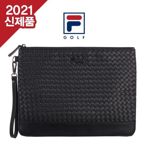 [2022년신제품]FILA GOLF 휠라골프 남,여공용 격자무늬 보테가스타일 클러치백[선물용하드케이스포함]