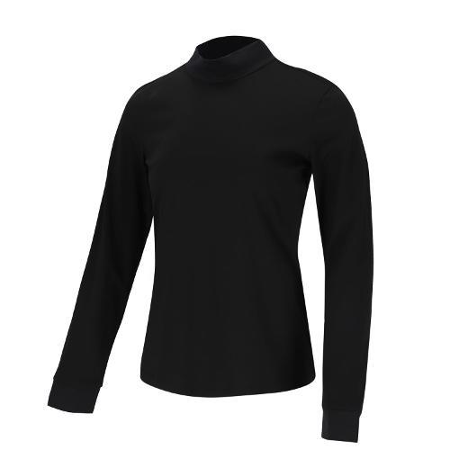 [볼빅골프웨어] 여성 골프 바람막이 하이넥 티셔츠 VLTSL994_BK