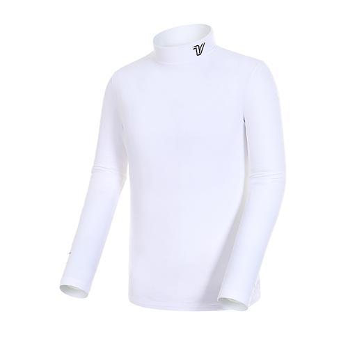 [볼빅골프웨어] 남성 골프 솔리드 기모 베이스레이어 티셔츠 VMBSJ991_WH