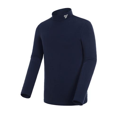 [볼빅골프웨어] 남성 골프 솔리드 기모 베이스레이어 티셔츠 VMBSJ991_NA