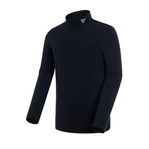 [볼빅골프웨어] 남성 골프 솔리드 기모 베이스레이어 티셔츠 VMBSJ991_BK