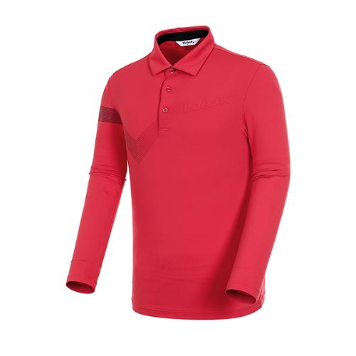 [볼빅골프웨어] 남성 골프 스트라이프 카라 긴팔 티셔츠 VMTSJ992_RE