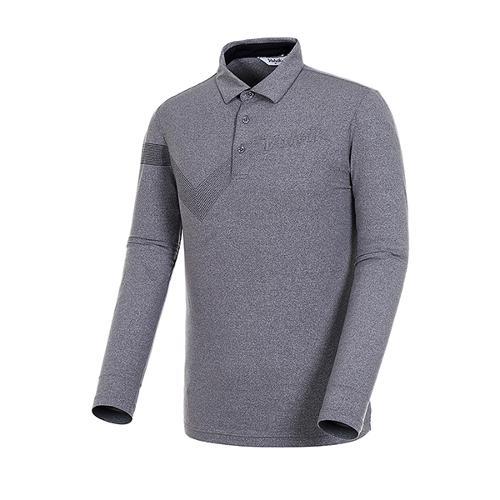 [볼빅골프웨어] 남성 골프 스트라이프 카라 긴팔 티셔츠 VMTSJ992_MG