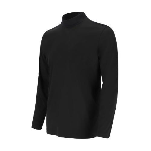 [볼빅골프웨어] 남성 골프 바람막이 이너 하프 터틀넥 티셔츠 VMTSL994_BK