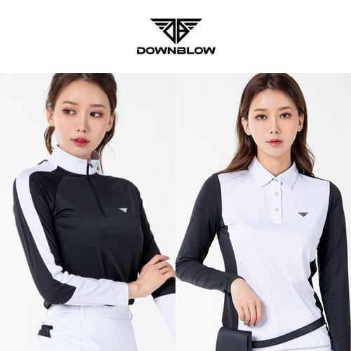다운블로우 여성 기능성 에어로쿨 긴팔티셔츠 2종 택1