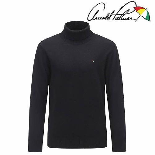 아놀드파마 남성 기본 터틀넥 스웨터 AMW9SH61-BK