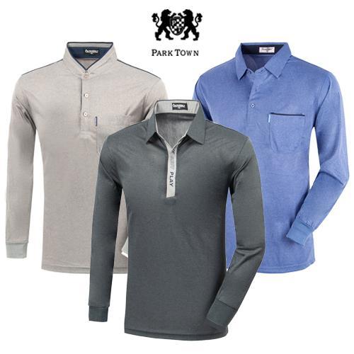 [파크타운 外] 가을오픈! 만원대 남성 긴팔 라운딩 카라 티셔츠 4종 택일