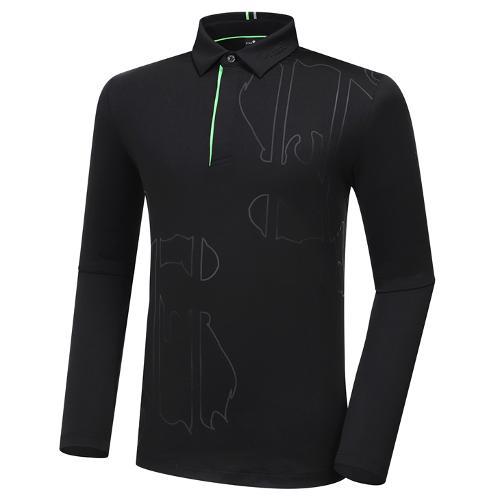 [와이드앵글] 남성 ELITE 모티브 폴로 긴팔 티셔츠 M WMW20205Z1
