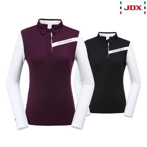 JDX 여성 소매배색 카라티셔츠 2종 택1 X3QFTLW91
