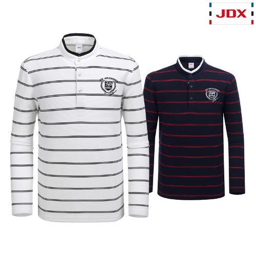 JDX 남성 2도 스트라이프 헨리넥 티셔츠 2종 택1 X2QFTLM08