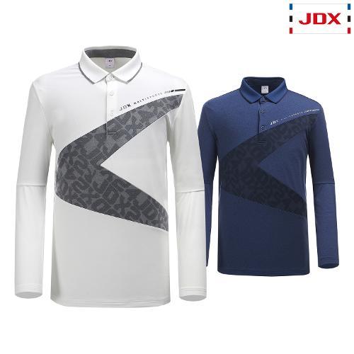 JDX 남성 앞판V사선 절개배색 티셔츠 2종 택1 X1QFTLM03