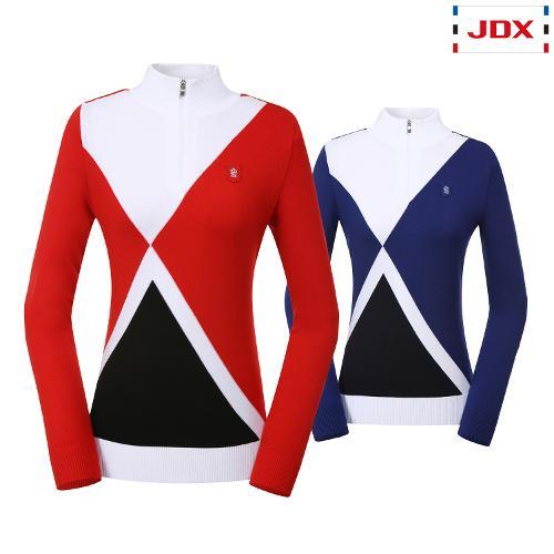 JDX 여성 사선배색 반집업스웨터 2종 택1 X1QFSPW54