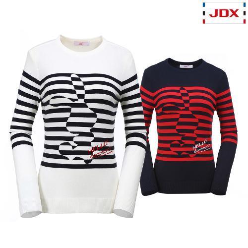 JDX 여성 커머스 포인트 라운드 스웨터 2종 택1 X2QFSPW81