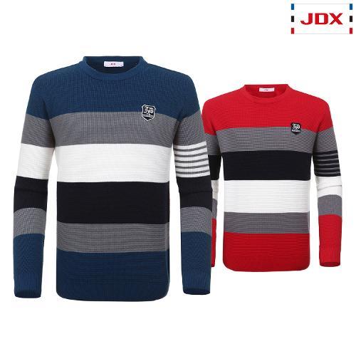 JDX 남성 소매조직 포인트 스트라이프 스웨터 2종 택1 X2QFSPM03