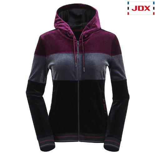 JDX 여성 컬러 블록 벨벳 트레이닝 자켓 X3QFWJW72NA