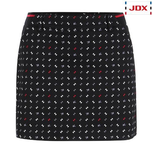JDX 여성 전판 모티브 패턴 큐롯 X1QFPQW54BK