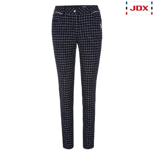 JDX 여성 윈도우 체크 패턴 팬츠 X1QFPTW53NA