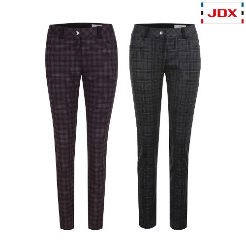 JDX 여성 전판체크 프린트 팬츠 2종 택1 X2QFPTW92