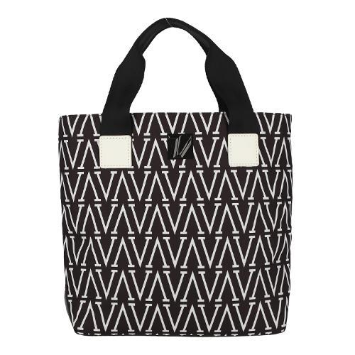 [볼빅골프웨어] 여성 골프 LAB 시리즈 패턴 포인트 토트백 VLABL971_BK