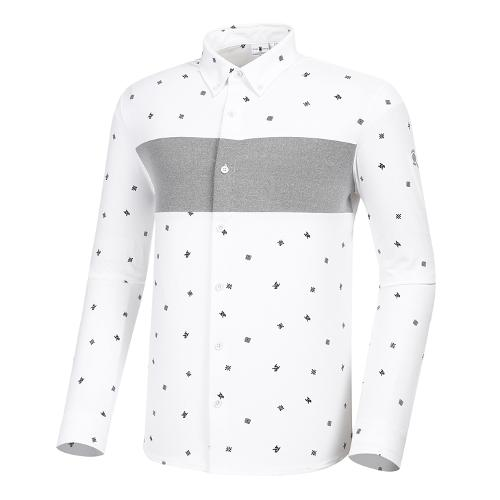 [와이드앵글] 남성 CF W.A 패턴 져지 긴팔 셔츠 M WMU21441W2