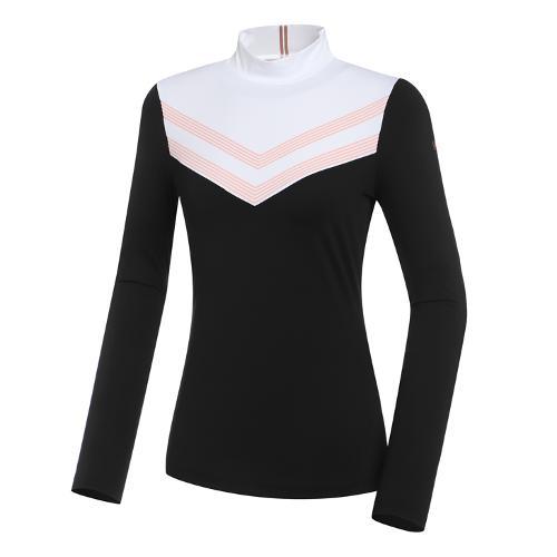 [와이드앵글] 여성 WL W.ANGEL 하이넥 긴팔 티셔츠 L WWU21201W3